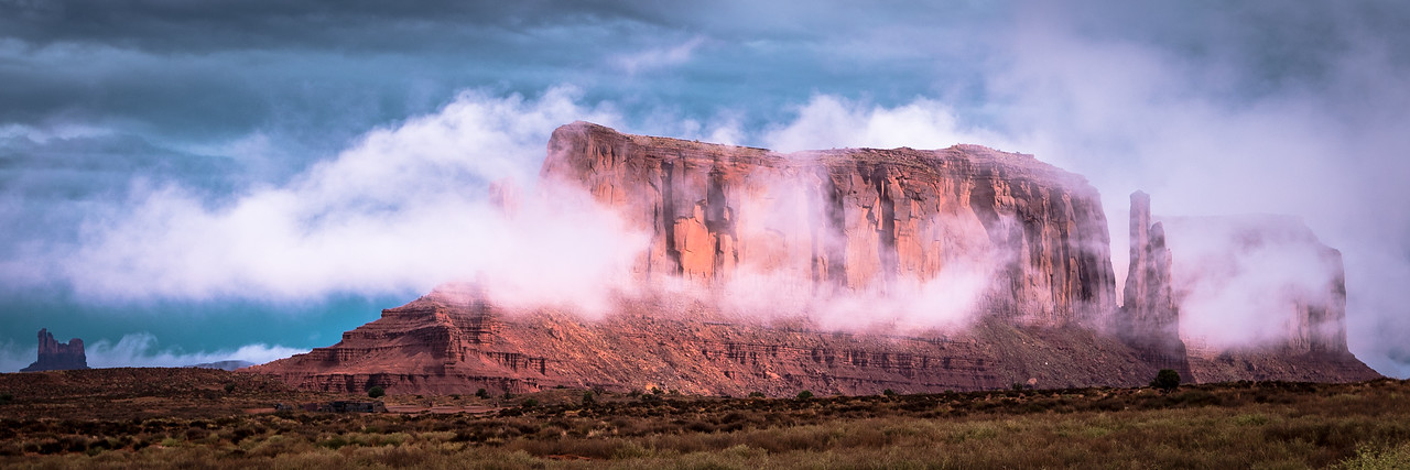 Lifting Fog, Monument Valley