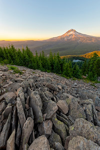 Mount Hood Sunset Fish Eye - Tom Dick and Harry Mountain-5