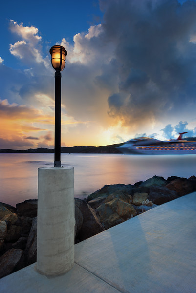 Cruise Ship Leaving, St Thomas USVI