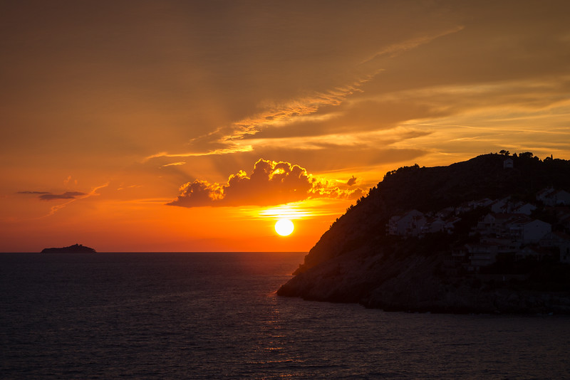 Sunset in Dubrovnik