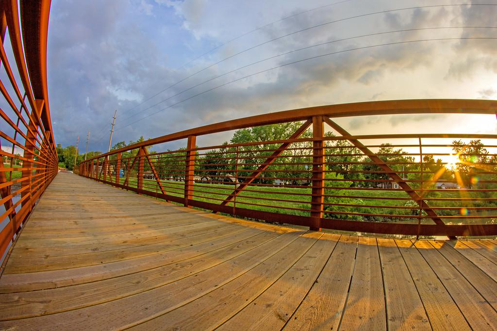Monon Bridge Fisheye