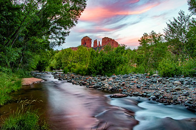 Cathedral Rock  Sunset on Oak Creak