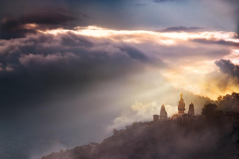 Swaymbhunath Temple Sunset