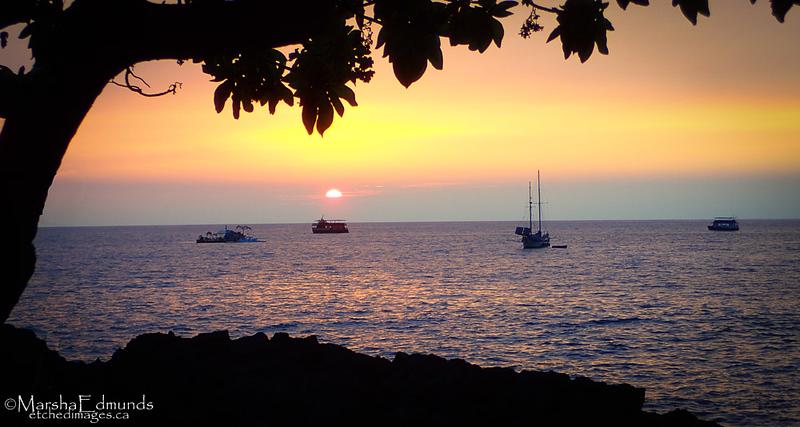 Sunset at Kailua Kona
