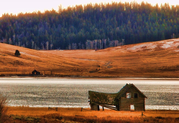 Feb 23 - abandoned homestead in Montana