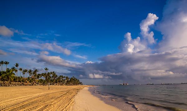 Early Morning on the Beach, Haiti.