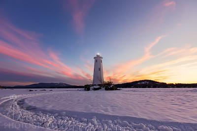 Loon Island Light Sunset 2