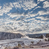 Mammoth Hot Springs Under Mackerel Sky