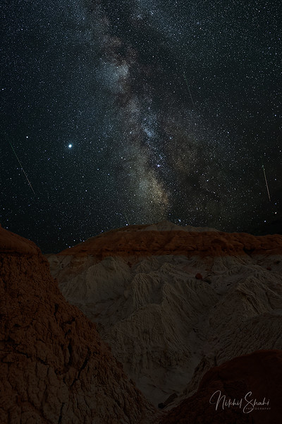 Perseid Meteor Shower & Milky Way over the Hoodoos