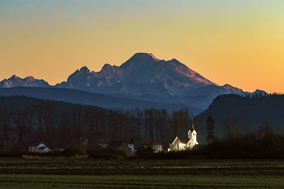 Fir-Conway Lutheran Church and Mount Baker
