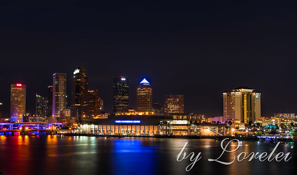 Tampa Evening Skyline I