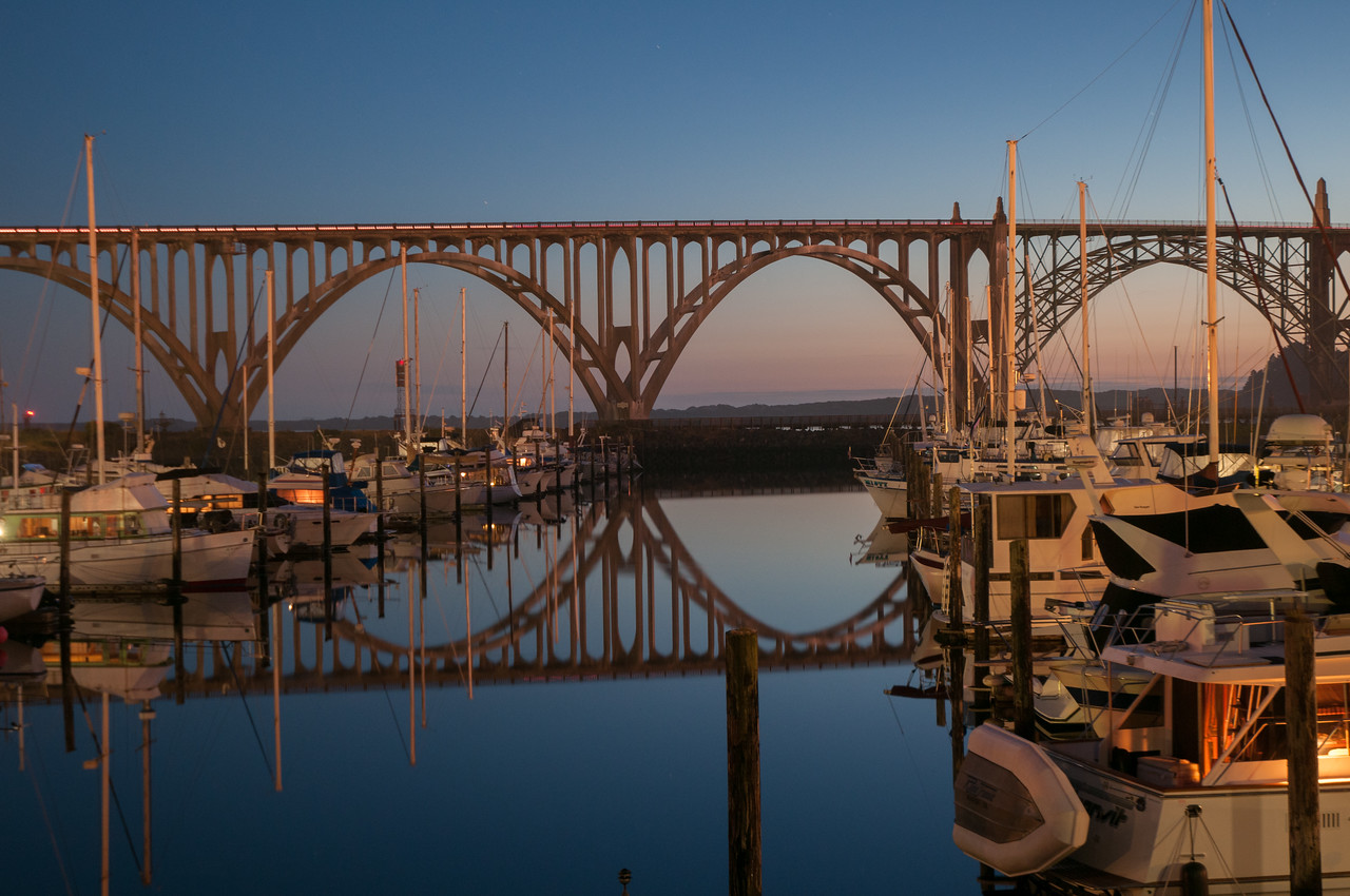 Newport, Oregon bridge, US 101.