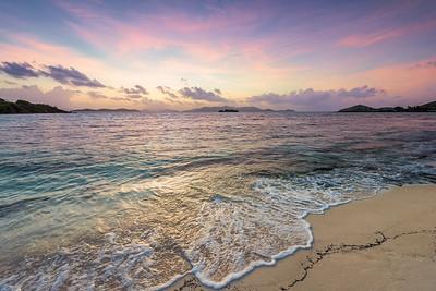 Sunrise from Sapphire Beach, St Thomas USVI
