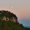 Full Moon Over Pilot Mountain, NC