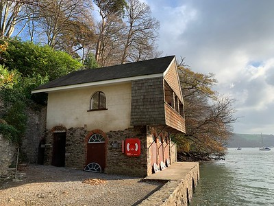 The boat house on the Greenway estate
