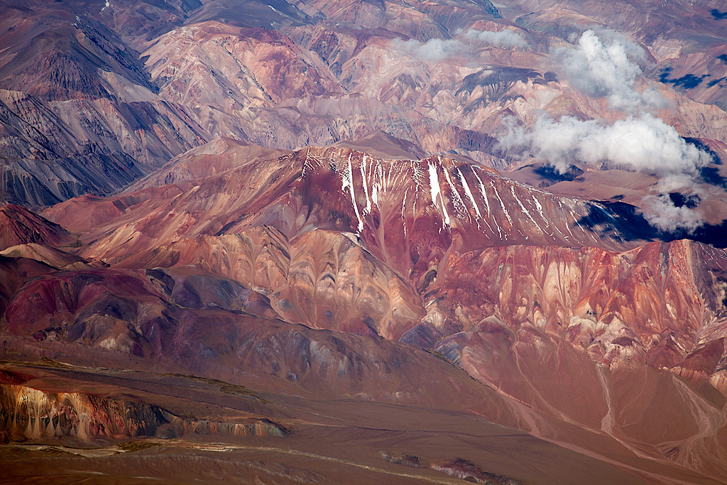 Flying northern Chile<br /> Flying into the Atacama desert, northern Chile