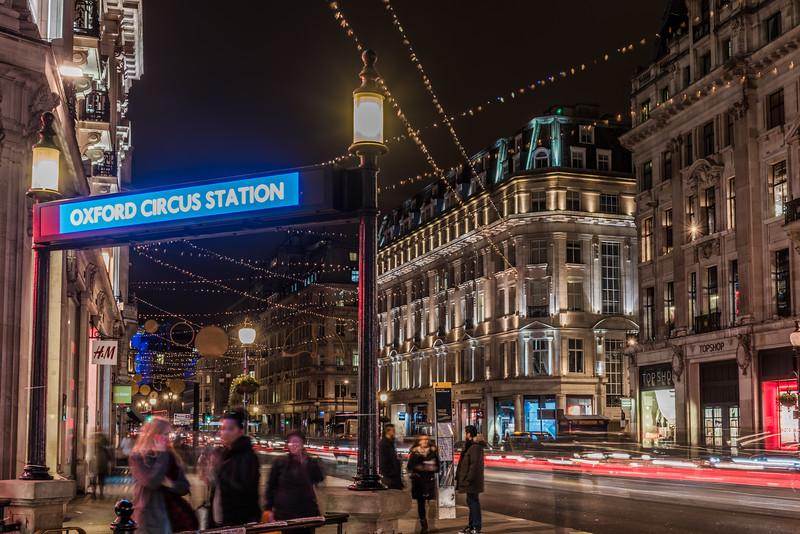 Oxford Street at Christmas season