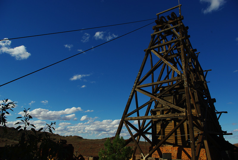 Restored Winder head, Sons of Gwalia mine, WA goldfields