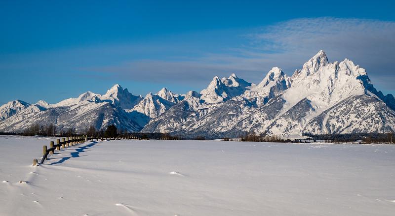 Tetons Winter Morning