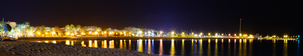 Night View of Cannes