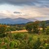 Scottish Mountains over Crieff Scotland at Autumn.