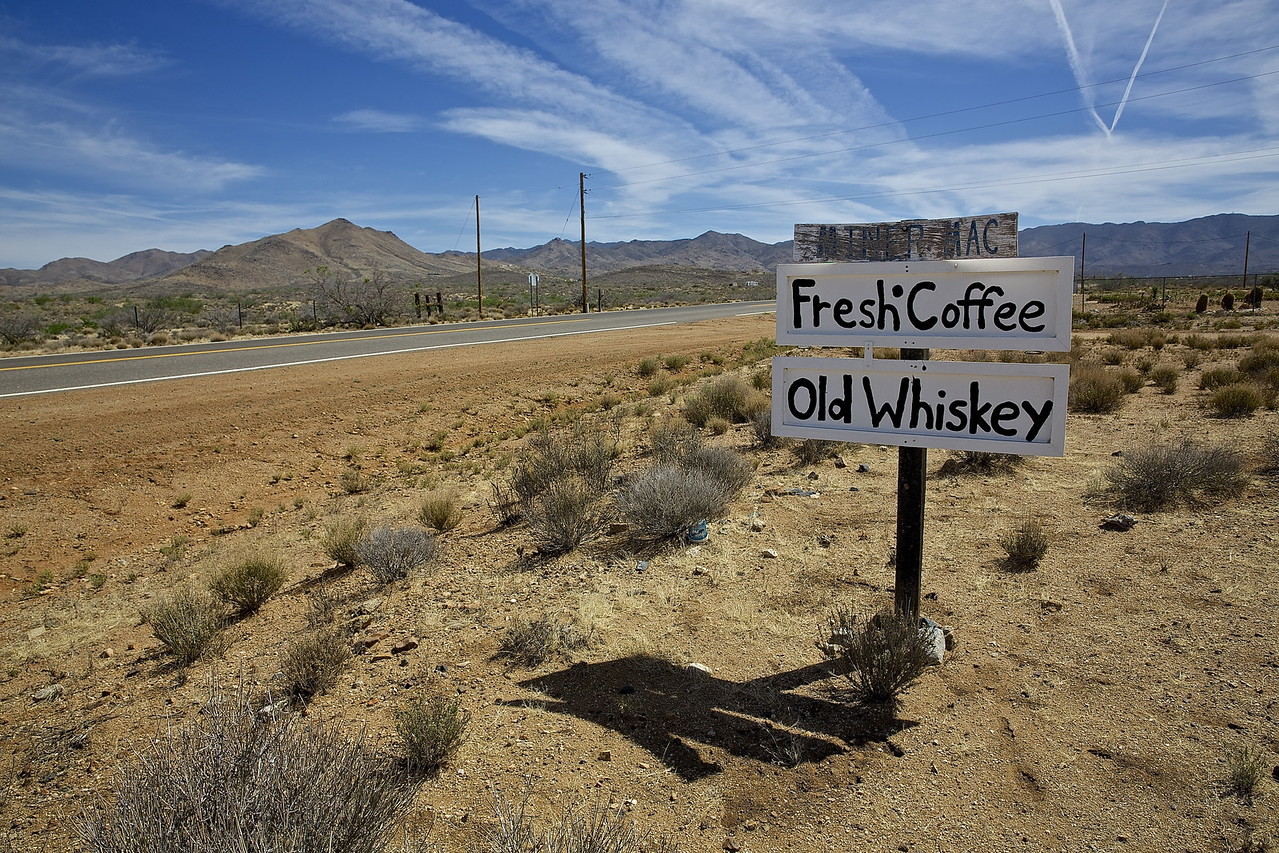 Fresh Coffee and Old Whiskey. Chloride, Arizona