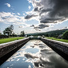 Reflections at Ft Augustus locks...