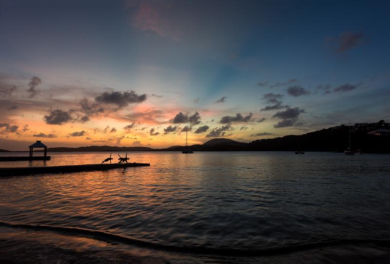 Yoga at Sunset, Secret Harbor, St Thomas USVI