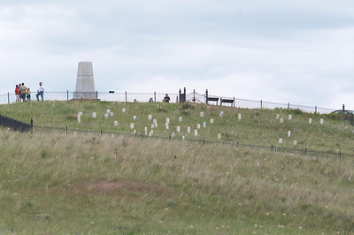 Yellowstone Vacation - Grave markers at Little Bighorn National Monument
