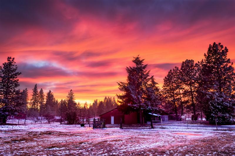 Red Barn Sky