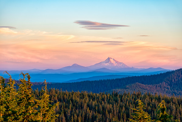 Mount Jefferson Sunset - Tom Dick and Harry Mountain