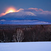 Snow Moon Over Katahdin