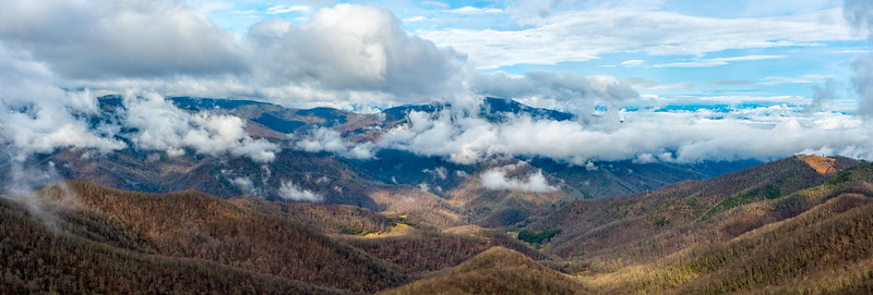 View from Fryingpan Mountain - Pisgah National Forest - NC - Panorama