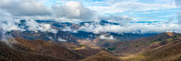 View from Fryingpan Mountain - Pisgah National Forest - NC - Panorama