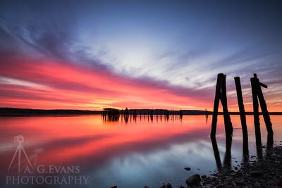 Sandy Point Beach Sunrise