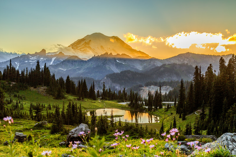 Mount Rainier Golden Hour