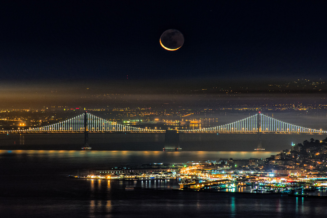 Moon over the Bay