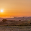 Sunset above Val d'Orcia, Tuscany