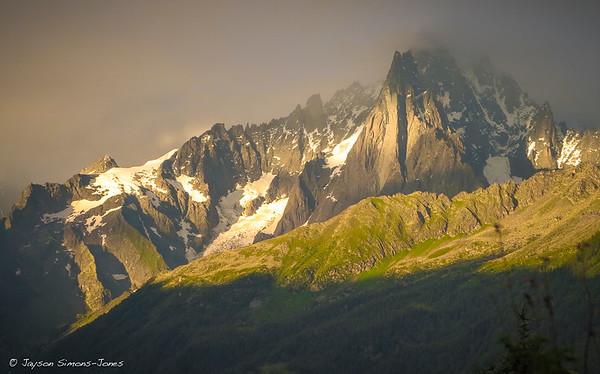 Sunset on the Drus....Chamonix Valley, France
