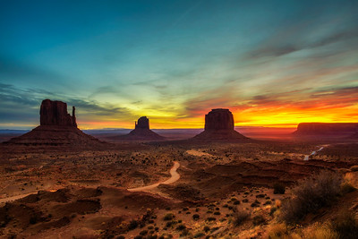 Sunrise over Monument Valley, Arizona, USA