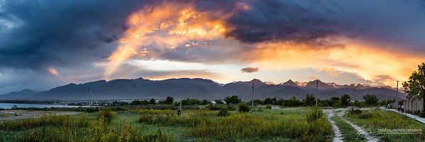 Lake Issyk-Kul || Cholpon-Ata, Kyrgyzstan  Canon EOS 6D w/ EF24-70mm f/2.8L USM: 24mm @ ¹⁄₁₀₀ sec, f/4.5, ISO 400