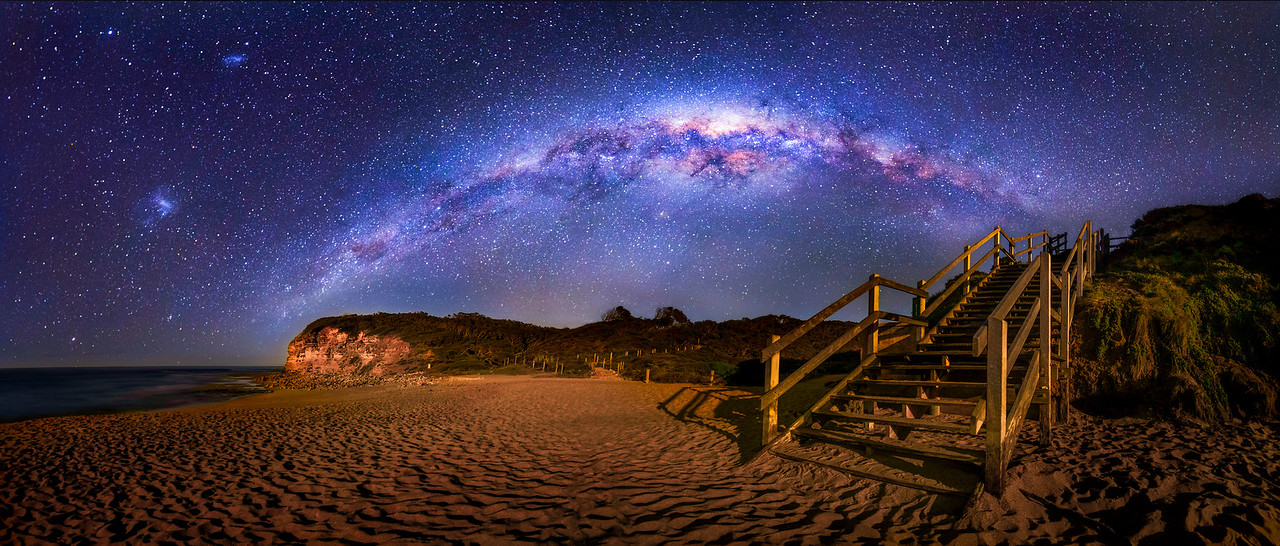 Bells Beach Stairs and Milky way