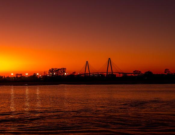 Ravenel Bridge at Sunset