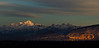 Mont Blanc Sunset from Crozet Pano