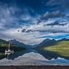 Sailboat on Bowman Lake, Glacier National Park, Montana