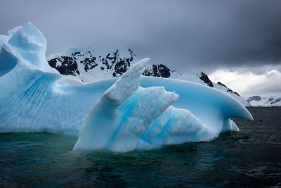 BLUE  SCULPTED ICEBERG, PARADISE BAY