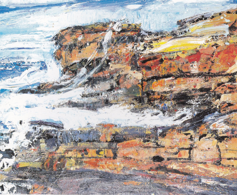 Peter McLaren, Skipi Geo, Orkney, Oil on Board, 48 x 36 inches