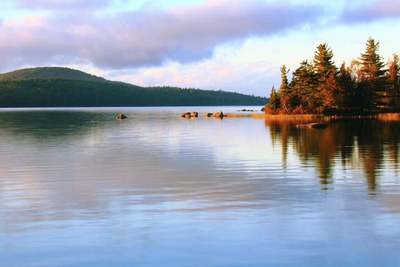Eagle Lake at Sunset, Acadia National Park, Maine