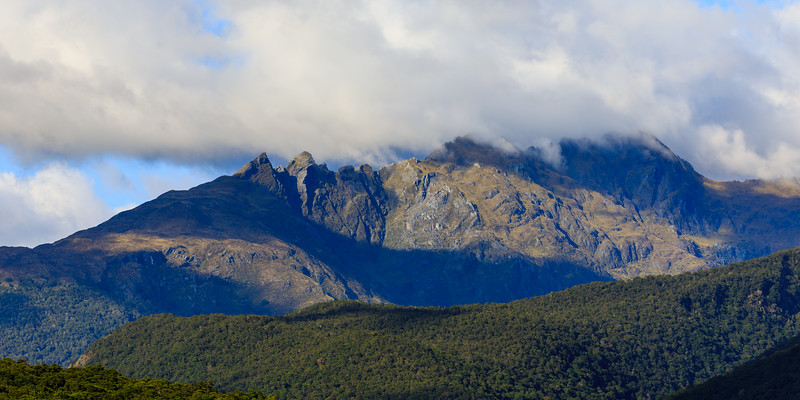 Cloud Capped Mountains in Aspiring National Park