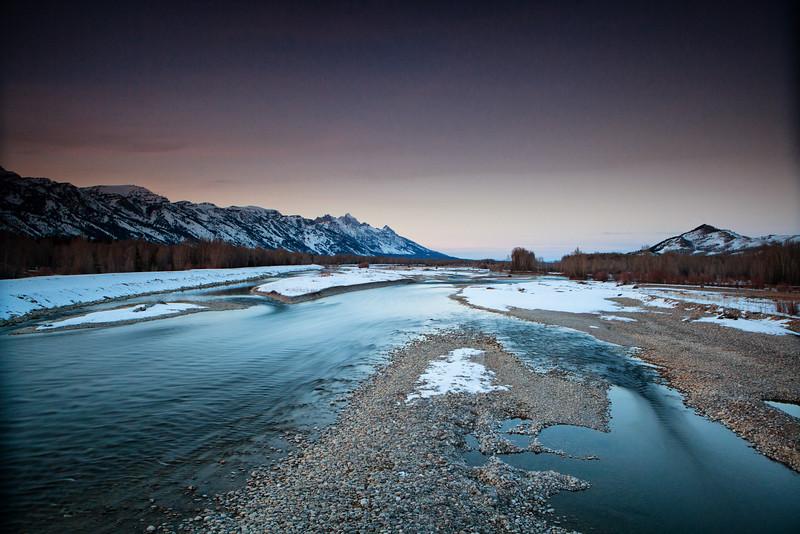 Snake River after Sunset. Jackson Hole, Wyoming. 2015